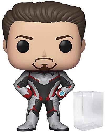 Marvel: Avengers Endgame – Figura de vinilo de Tony Stark (Iron Man) Funko Pop! (incluye funda protectora de caja emergente)