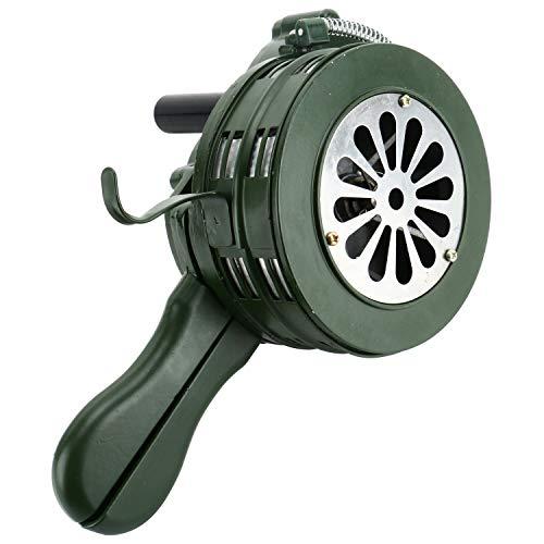 Homend Air Raid Sirene, 110 dB, Hand, laut, kurbelbetriebene Luft-Raid-Sirene für Zuhause, Selbstschutz, Sicherheitsalarm, Sirene aus Aluminiumlegierung Kurbel, grün, 110DB Handheld