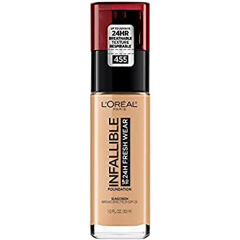 L'Oreal Paris Makeup Infallible Up to 24 Hour Fresh Wear Foundation, Natural Buff, 1 fl. Ounce