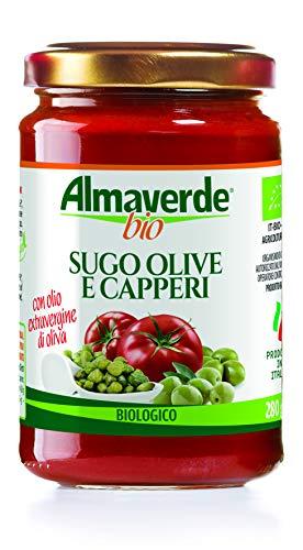 Almaverde Bio Sugo Olive e Capperi Biologico. 3 vasetti da 280 gr.