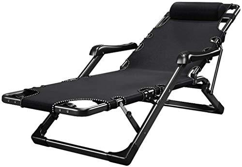 YAOHONG Colchonetas, sillas portátiles, Cojines, Patio Interior y Exterior terraza en el jardín, sillas Plegables de Cubierta Cómodo sillón reclinable (Color : Chair)