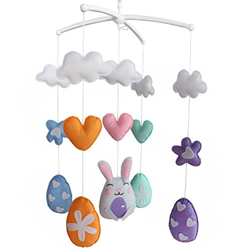 Berceau de lit de bébé rotatif coloré jouets de bébé [Jouer au lapin]