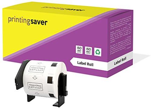 Rolle DK11209 DK-11209 29mm x 62mm Adress-Etiketten kompatibel für Brother P-Touch QL-500 QL-550 QL-570 QL-700 QL-800 QL-810W QL-820NWB QL-1050 QL-1060N QL-1100 QL-1110NWB (800 Etiketten pro Rolle)