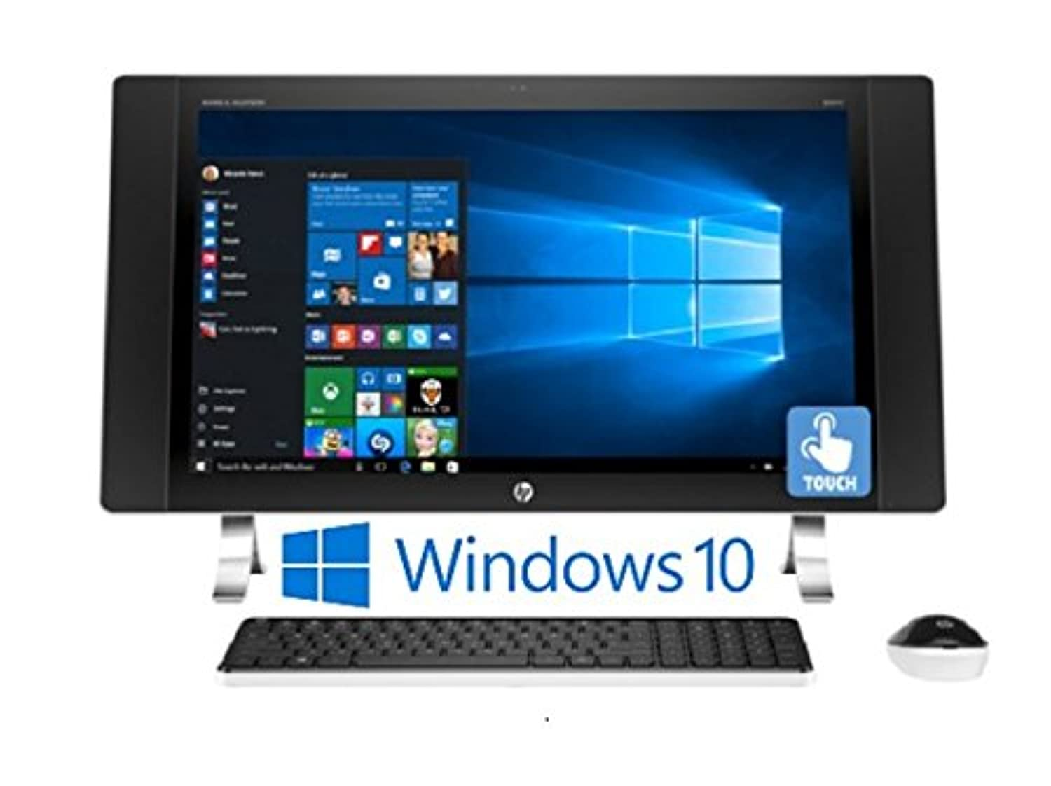 HP ENVY 27-p014, 27? IPS Full HD (1920 x 1080) Touchscreen, Intel Core i5-6400T, 12GB, Windows 10 All-in-One Desktop PC (Renewed)