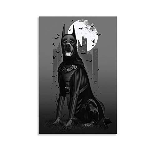 Dobermann Humorvolle Tierdekoration Poster Dekorative Malerei Leinwand Wandkunst Wohnzimmer Poster Schlafzimmer Gemälde 30 x 45 cm