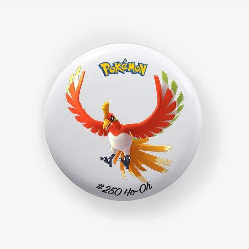 Ho-oh : Chapa Pokemon Go, Pinback Button Badge 1.50 Inch (38mm)