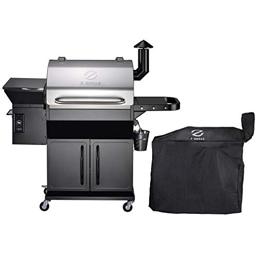 Z GRILLS ZPG-1000E Wood Pellet Grill Smoker for Outdoor Cooking with Cover, 2020 Upgrade, 8-in-1 & Pid Controller