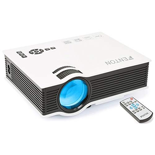 Fenton X20 HD ready LED beamer met afstandsbediening, Ingebouwde speaker, HDMI, USB en SD aansluiting voor o.a. Home Cinema en Gaming