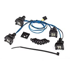 Traxxas 8086 - LED Expedition Rack Scene Light Kit, TRX-4 Features: Multi LED Lightbar with Wiring Harness, Mounting hardware, Fits # 8111 Body Includes: (1) LED Lightbar (1) Wiring Harness (1) Plastic Tie Wrap (8) Cap Head Screws Specs: Part number(...