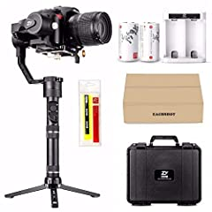 A massive capable payload of 2. 5kg. If you have long lens, counter weight is required. Search B079JKKPJ2 on amazon Motion Memory feature with Crane Plus allows you to setup advanced camera movements. Newly designed POV (Point of View) mode providing...