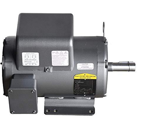 5 HP / 1 Phase Industrial Electric Motor 184T Frame Baldor L8430T 230 VOLT