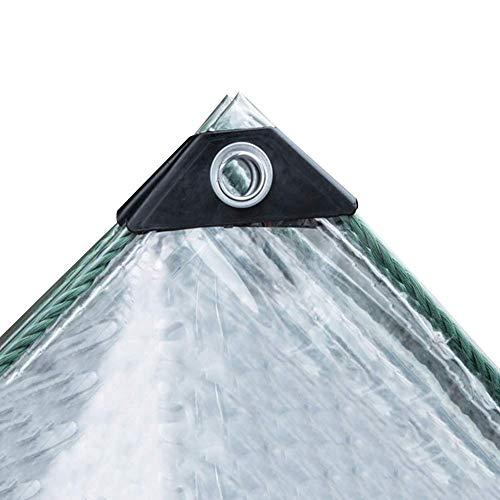 JYSYZG – Lona de tejido impermeable, protección solar para uso en jardín, al aire libre, protección contra el frío, resistente al polvo, accesorios galvanizados, 18 tamaños