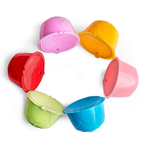 Filtro de café reutilizable, cafeteras, cápsulas de café recargables, coloridas y recargables, compatible con café,...
