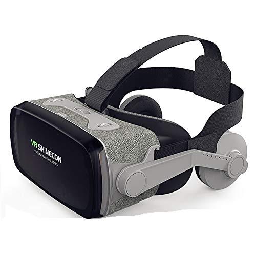 Yajun Virtual Reality 3D Brille Vr Headset Box Für 4,7-6,3 Zoll Smartphones Head Mounted Display Grau Für Kinder Erwachsene Filme Und Spiele