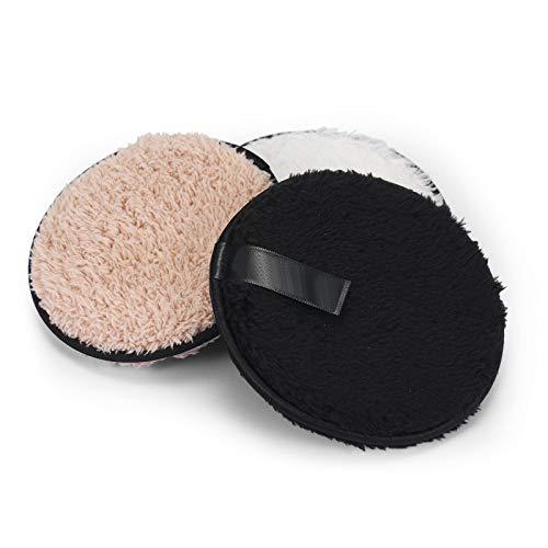 Adaskala 3 uds almohadillas desmaquillantes de microfibra toalla facial reutilizable toallitas de maquillaje paño almohadillas de algodón lavables cuidado de la piel limpiador Puff