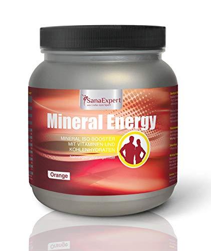SanaExpert Mineral Energy |Boisson isotonique énérgetique et hydratante |adapté aux sportifs |Électrolytes, glucides, vitamines et minéraux|100% naturel|Fabriqué en Allemagne|Goût orange|1100 g