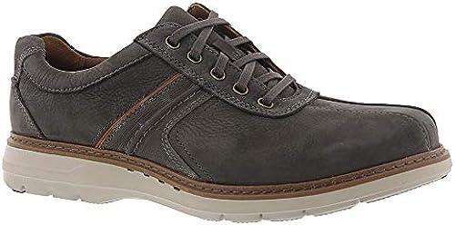 CLARKS Men& 039;s Un Ramble Go Dark grau Tumbled Leather 10.5 EEEE US
