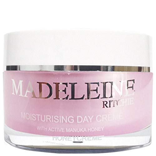 Madeleine Ritchie New Zealand HoneyCreme Moisturising Day Face Cream with Active Manuka Honey 100ml jar. Original. Authentic & Natural Anti Aging Skin Care