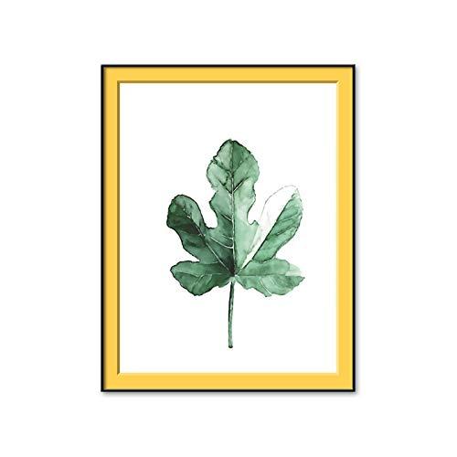 un known Cuadros Decoracion Salon Plantas Verdes Pintura al óleo INS Cuadros de la Pared para la decoración del hogar Decoración Pegatinas Diseño de Arte 19.7x27.6in (50x70cm) x1pcs Sin Marco