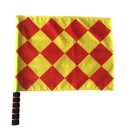 Hongma Schiedsrichter Linienrichter Fahne Flagge mit Schwammgriff Tragbar MEHRWEG