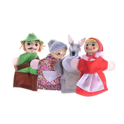 N\ A Little Red Riding Hood Finger Puppets Set, Tres Cerditos Y Marionetas De Dedo Lobo para Bebés Y Niños Pequeños Niños Regalos Un