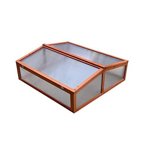 Gardiun, houten kas van polycarbonaat, hout 82 X 90 X 32 cm 50 hojas