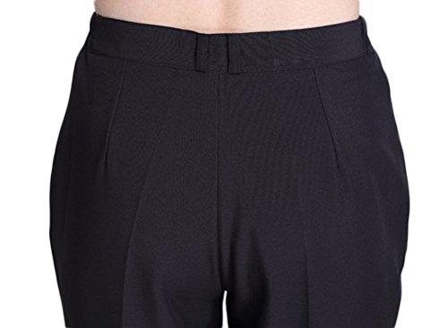 Nanxson Women¡¯s Hotel/Kitchen Chef Pants Trousers Uniform Elastic Waist Black Pants Work Pants CFW2001