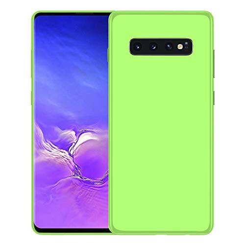 TBOC Funda de Gel TPU Verde para Samsung Galaxy S10 [6.1 Pulgadas] Carcasa de Silicona Ultrafina y Flexible para Teléfono Móvil [No es Compatible con el Samsung Galaxy S10e y S10+]
