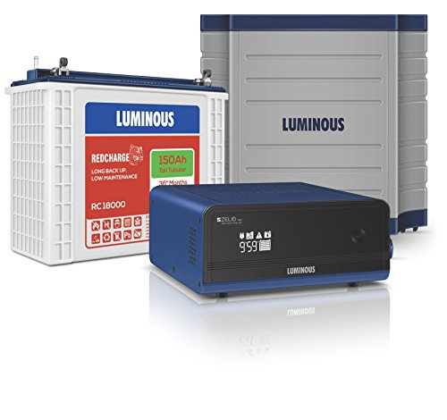 Luminous Zelio 1100 + Rc18000 150 Ah Tubular Battery+ Trolley