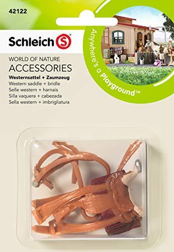 Schleich 42122 - Westernsattel + Zaumzeug