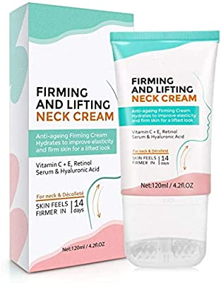 Neck Cream,Neck Firming Cream with 2 in 1 Roller Massage, Anti Aging Moisturizer for Neck & Décolleté, Anti Wrinkle Skin Tightening Cream for Lifting Double Chin, Sagging and Crepe Skin (neck cream) from Donger