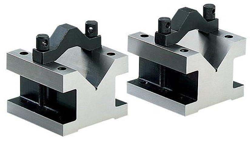 相対サイズレール年齢Grizzly G5644 90-Degree V-Blocks with Clamp Set, 2-3/8-Inch by 2-3/8-Inch by 2-Inch [並行輸入品]