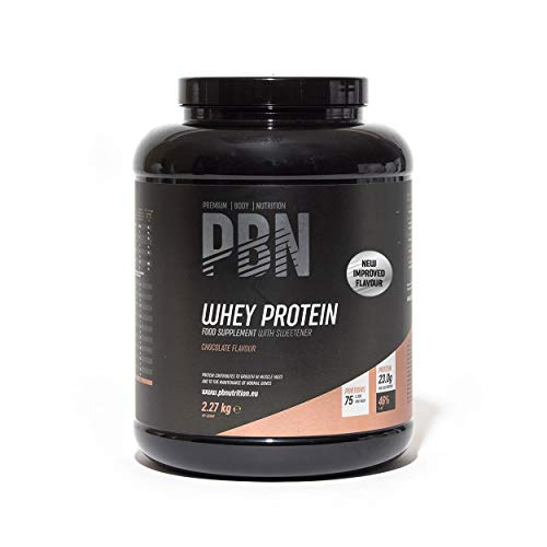 PBN Premium Body Nutrition - Proteína de suero de leche en polvo, 2.27 kg (Paquete de 1), sabor Chocolate, sabor optimizado ✅