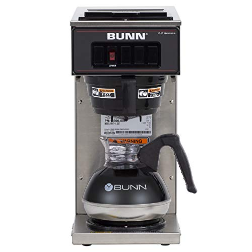 BUNN 13300.0001 VP17-1SS Pourover Coffee Brewer with 1 Warmer, Stainless Steel (120V/60/1PH)