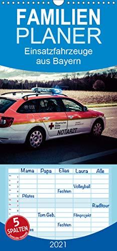 Einsatzfahrzeuge aus Bayern - Familienplaner hoch (Wandkalender 2021, 21 cm x 45 cm, hoch)