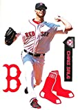 Chris Sale FATHEAD TEAMMATE Graphic + Red Sox Logo Set Official MLB Vinyl Wall Graphics 17' INCH