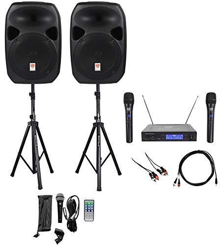 "Rockville Dual 12""ipad/iphone/Android/Laptop/TV Youtube Karaoke Machine/System"