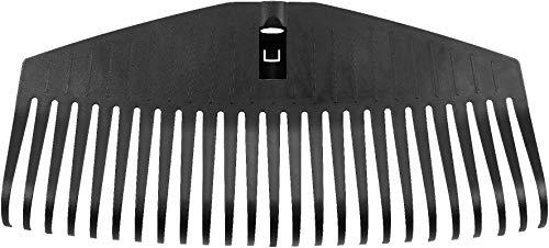Fiskars Tête de balai à gazon livrée sans manche, 25 dents, Compatible avec le Manche Fiskars Solid, Largeur : 51,1 cm, Dents en plastique, Noir, L, Solid, 1014915