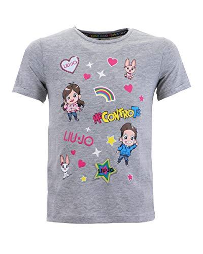 T-Shirt Me Contro Te Bambina, 8 Anni (128), Grigio