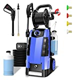 Pressure Washer, TEANDE 3800PSI 2.8GPM High Power Washer, 1800W Electric Pressure Washer Cleaner with Spray Gun 4 nozzles for Cars Fences Patios Garden Cleaning (Blue)
