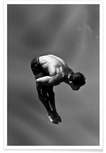 """JUNIQE® Poster 20x30cm Schwarz & Weiß Menschen - Design """"Cuban Athlete 5 - Francisco Ross"""" (Format: Hoch) - Bilder, Kunstdrucke & Prints von jungen Künstlern entworfen von 1x"""