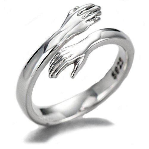 Helen de Lete Komm zu meinem Arm Umarmung 925 Sterling Silber offenen Ring