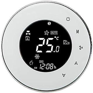 comprar comparacion Termostato Wi-Fi per Caldaia a Gas,Termostato intelligente Schermo LCD(VA Schermo) Touch Button Retroilluminato Programmab...