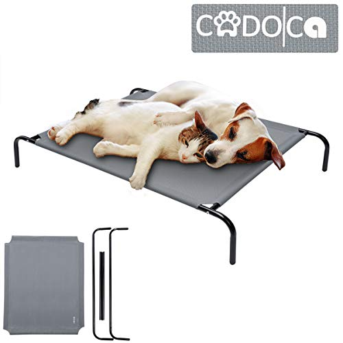 Cadoca Hundebett Hundeliege Katzenbett Katzenliege Schlafplatz Hundesofa | Outdoor + Indoor | 110 x 70 x 20cm | Grau