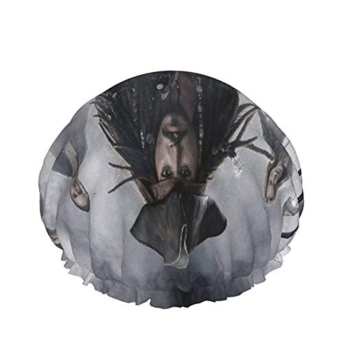 yongxing Gorro de ducha piratas caribeño para mujer, elástico, impermeable y ajustable, doble capa reutilizable de EVA para viajes, hogar