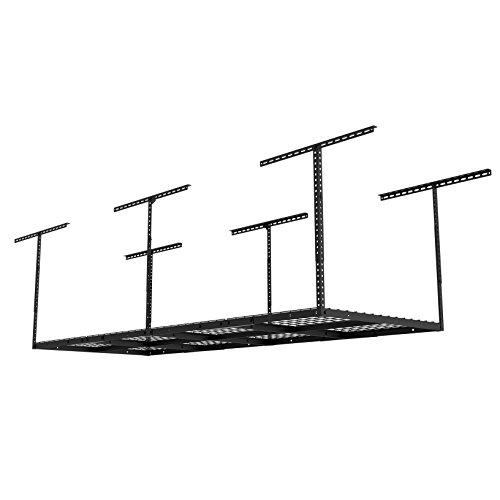FLEXIMOUNTS 3'X8' Heavy Duty Overhead Garage Adjustable Ceiling Storage Rack,96' Length x 36' Width...