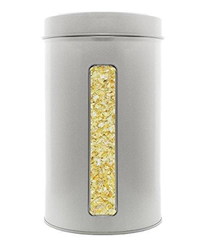 Zwiebeln geschnitten, Zwiebelflocken 2-4mm, keimreduziert, luftgetrocknet. Spitzenqualität aus Deutschland. XL Gastro - Dose 500g.