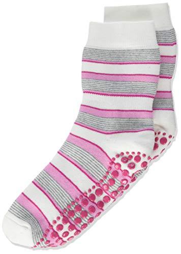 FALKE Unisex Kinder Mixedstripe Cp Socken Stoppersocken, Weiß (White 2000), 35-38