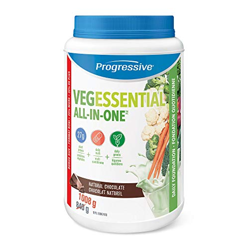 Progressive Health Vegessential, All-In-One Vegan Protein, Greens, Vitamins & minerals Powder - Natural Chocolate 1008 g