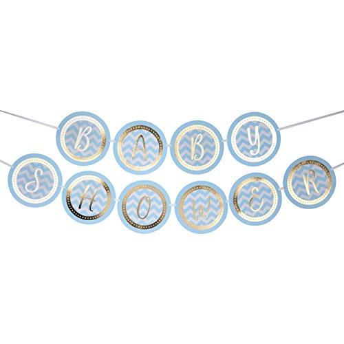 Neviti fanions Motif Fonctionne – – Baby Shower – Bleu